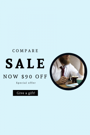 Portrait design template for sales - #banner #businnes #sales #CallToAction #salesbanner #coffee #table #person #professional #beverage #cup #sunlight #beard #relax #tie