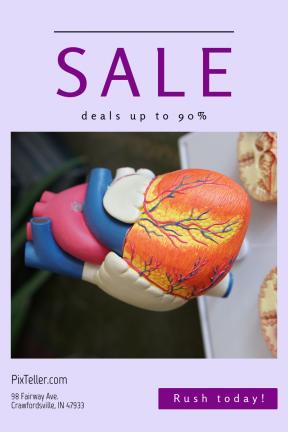 Portrait design template for sales - #banner #businnes #sales #CallToAction #salesbanner #black #robinaweermeijer #vein #organ #medical
