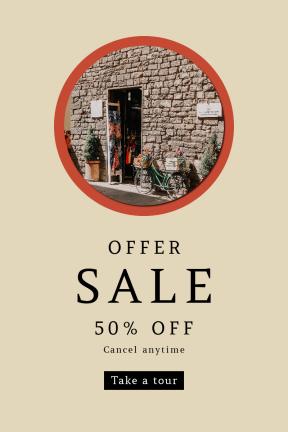 Portrait design template for sales - #banner #businnes #sales #CallToAction #salesbanner #geometrical #masonry #house #village #selling