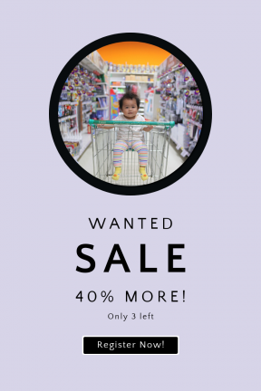 Portrait design template for sales - #banner #businnes #sales #CallToAction #salesbanner #child #geometric #black #squares #shop #dark #shape #infact