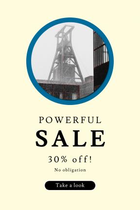 Portrait design template for sales - #banner #businnes #sales #CallToAction #salesbanner #zeche #structure #interface #contrast #zollverein #fog #construction #circles