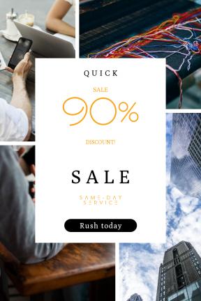 Portrait design template for sales - #banner #businnes #sales #CallToAction #salesbanner #shape #thread #wool #business #sky #textile #person #tablet #industry