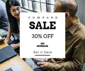 Square large web banner template for sales - #banner #businnes #sales #CallToAction #salesbanner #notebook #westerner #technology #strategy #workshop