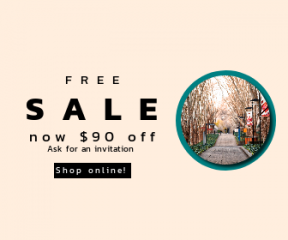 Square large web banner template for sales - #banner #businnes #sales #CallToAction #salesbanner #australia #lampost #macquarie #tree #path #university #trees #park