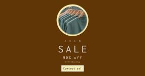 Card design template for sales - #banner #businnes #sales #CallToAction #salesbanner #custom #printed #hat #wood #rack #hand #shopping #shirt