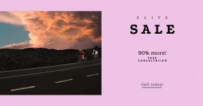 Card design template for sales - #banner #businnes #sales #CallToAction #salesbanner #sport #riding #outside #sunset #orange