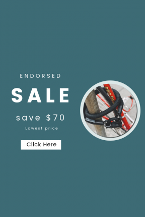 Portrait design template for sales - #banner #businnes #sales #CallToAction #salesbanner #pole #pavement #bicycle #wheel #bike #cage #post #chain