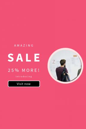 Portrait design template for sales - #banner #businnes #sales #CallToAction #salesbanner #man #letter #brainstorming #business #work #workplace