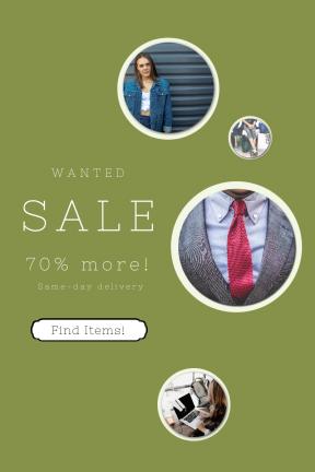 Portrait design template for sales - #banner #businnes #sales #CallToAction #salesbanner #top #shop #lady #ragged #frames #casual #stars #frame