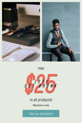 Portrait design template for sales - #banner #businnes #sales #CallToAction #salesbanner #woman #bench #work #graphicdesign #seat #office