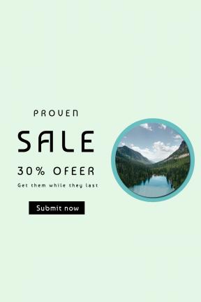 Portrait design template for sales - #banner #businnes #sales #CallToAction #salesbanner #glacier #mountain #adventure #park #landscape #road