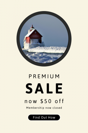 Portrait design template for sales - #banner #businnes #sales #CallToAction #salesbanner #sea #cold #red #lighthouse #shapes