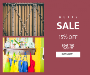 Square large web banner template for sales - #banner #businnes #sales #CallToAction #salesbanner #mirror #paint #wood #vibrance #door #industrial #brown