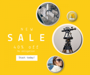Square large web banner template for sales - #banner #businnes #sales #CallToAction #salesbanner #electric #pioneer #white #fur #degree #excited #transport #telescope #glass #biology
