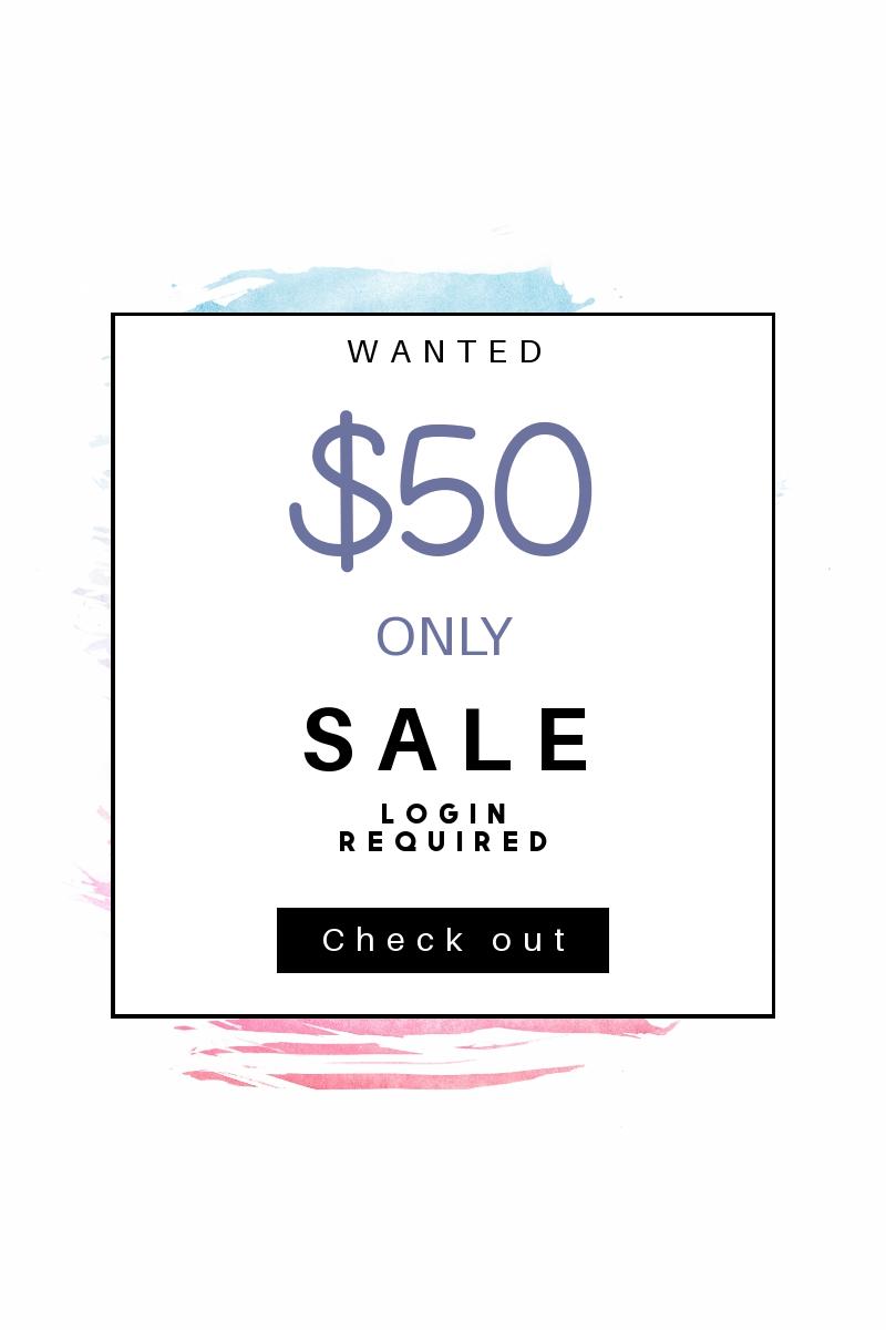 Portrait design template for sales - Design  Template
