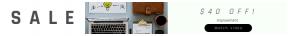 Leaderboard web banner template for sales - #banner #businnes #sales #CallToAction #salesbanner #geometric #black #workplace #coffee #paper #shape #desk