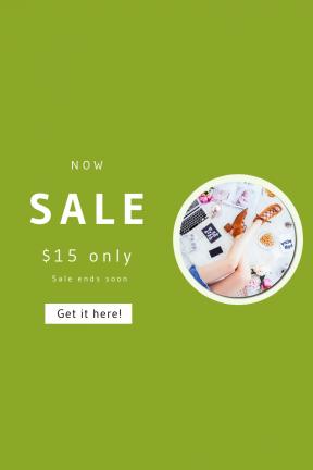 Portrait design template for sales - #banner #businnes #sales #CallToAction #salesbanner #boots #computer #bed #modern #pretzel #sandle #on