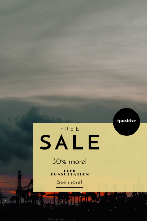 Portrait design template for sales - #banner #businnes #sales #CallToAction #salesbanner #moody #industrial #symbol #shapes #essentials