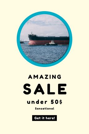 Portrait design template for sales - #banner #businnes #sales #CallToAction #salesbanner #black #ocean #interface #shapes #circles #harbor #symbols