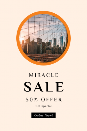 Portrait design template for sales - #banner #businnes #sales #CallToAction #salesbanner #architecture #trade #city #new #york #building #freedom #bridge #one #sunlight