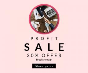 Square large web banner template for sales - #banner #businnes #sales #CallToAction #salesbanner #handshake #deal #shape #shake #white