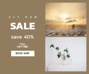 Square large web banner template for sales - #banner #businnes #sales #CallToAction #salesbanner #mujihouse #incense #smoke #sunset #roof #issues #building #village #green #town
