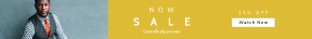 Leaderboard web banner template for sales - #banner #businnes #sales #CallToAction #salesbanner #businessman #man #tie #business #seat #african #poc #professional