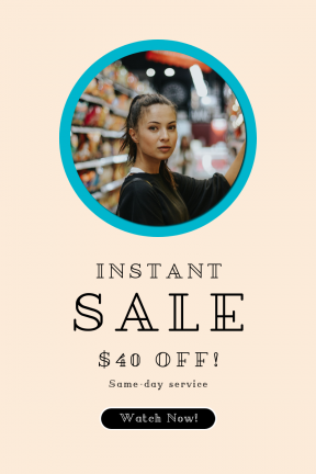Portrait design template for sales - #banner #businnes #sales #CallToAction #salesbanner #long #symbol #girl #shapes #woman #shopping #essentials #black #shape