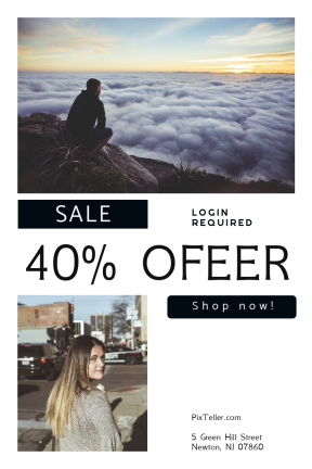 Portrait design template for sales - #banner #businnes #sales #CallToAction #salesbanner #woman #chica #water #mountain #female #clouds #skyline
