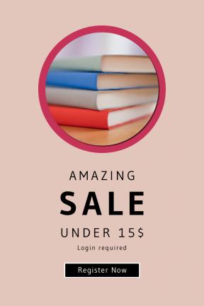 Portrait design template for sales - #banner #businnes #sales #CallToAction #salesbanner #university #writing #inspiration #stack #button #boxes