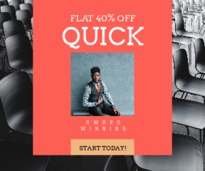 Square large web banner template for sales - #banner #businnes #sales #CallToAction #salesbanner #empty #man #school #audience #seat #business #suit #male