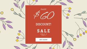 FullHD image template for sales - #banner #businnes #sales #CallToAction #salesbanner #design #lavender #branch #flower #petal #lilac #flora #pattern #purple #violet