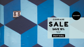 FullHD image template for sales - #banner #businnes #sales #CallToAction #salesbanner #pattern #paint #navy #blue #cube