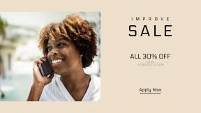 FullHD image template for sales - #banner #businnes #sales #CallToAction #salesbanner #telephone #female #tech #information #social #smiling #network