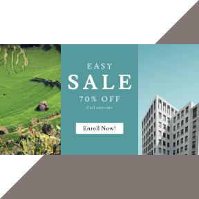 Image design template for sales - #banner #businnes #sales #CallToAction #salesbanner #vegetation #reserve #apartment #exterior #architetcure #hill #estate #business #building