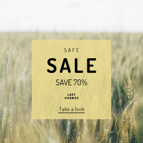 Image design template for sales - #banner #businnes #sales #CallToAction #salesbanner #bread #hayfield #field #plant #cereal #nature #blur #rural #hay