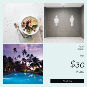 Image design template for sales - #banner #businnes #sales #CallToAction #salesbanner #table #tropical #yogurt #fig #vegan #sky #pool #swimming