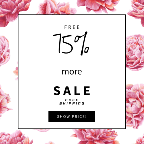Image design template for sales - #banner #businnes #sales #CallToAction #salesbanner #petal #pink #peony #peach #dahlia #plant #flowering #rosa