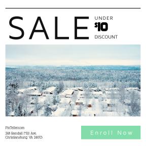 Image design template for sales - #banner #businnes #sales #CallToAction #salesbanner #snow #roof #scandinavian #cold #building #tree #cloudy