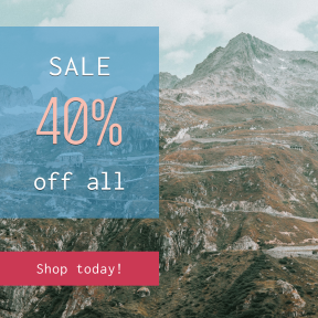 Image design template for sales - #banner #businnes #sales #CallToAction #salesbanner #building #nature #pass #landscape #sky #drone #retro #snow #view