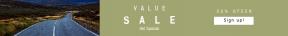 Leaderboard web banner template for sales - #banner #businnes #sales #CallToAction #salesbanner #transport #sunset #sky #tree #lines #nature