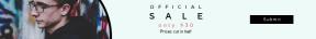 Leaderboard web banner template for sales - #banner #businnes #sales #CallToAction #salesbanner #sunglasses #vision #glasses #product #care #art #eyewear #cool