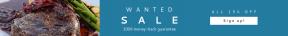 Leaderboard web banner template for sales - #banner #businnes #sales #CallToAction #salesbanner #square #broccoli #stop #meal #steak #black #food #http://www.aktion-weihnachtsbaeume.de