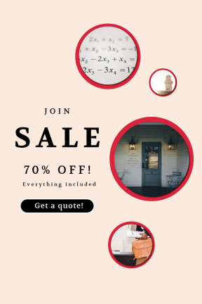 Portrait design template for sales - #banner #businnes #sales #CallToAction #salesbanner #white #to #round #briefcase #plant #leather