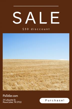 Portrait design template for sales - #banner #businnes #sales #CallToAction #salesbanner #blue #interface #vegetable #bread #circle #sunlight #summer