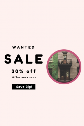 Portrait design template for sales - #banner #businnes #sales #CallToAction #salesbanner #door #building #wall #urban #entrance #city #window #business #street #tree