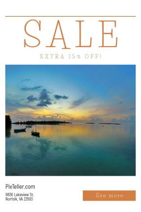 Portrait design template for sales - #banner #businnes #sales #CallToAction #salesbanner #silhouette #sunrise #cloud #sunset #reflection #horizon #sail #cloudscape