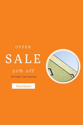 Portrait design template for sales - #banner #businnes #sales #CallToAction #salesbanner #minimalism #city #green #nuremberg #window #geometry