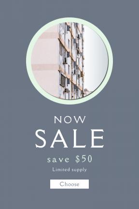 Portrait design template for sales - #banner #businnes #sales #CallToAction #salesbanner #white #urban #florencia #essentials #air #apartment #pastel #mess #complex