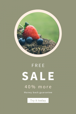 Portrait design template for sales - #banner #businnes #sales #CallToAction #salesbanner #healthy #round #circle #blueberry #food #fruit #rounded